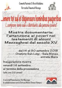 ... emere tot sal et dispensare hominibus pauperibus @ Oratorio San Luigi | Mezzago | Lombardia | Italia